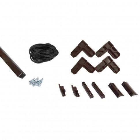Kit rama plasa insecte / tantari, Far Est, pentru ferestre, aluminiu, maro, 1 x 1 m