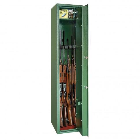 Dulap arme Rottner Montana 5, 2 usi, verde, cheie, 340 x 300 x 1450 mm