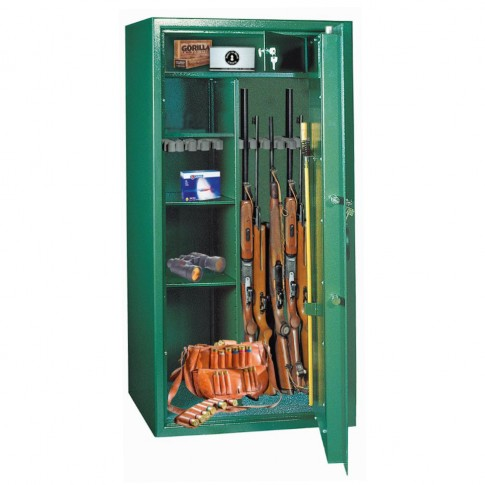 Dulap arme Rottner Montana 10, 2 usi, verde, cheie, 400 x 800 x 1500 mm
