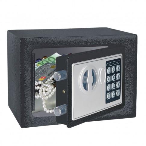 Seif pentru mobila hotel Rottner Homestar T06083, electronic, antracit, 230 x 170 x 150 mm