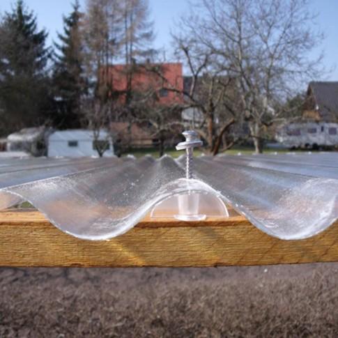 Acoperis ondulat Guttagliss, armat cu fibra de sticla,  incolor, 40 x 1.5 m