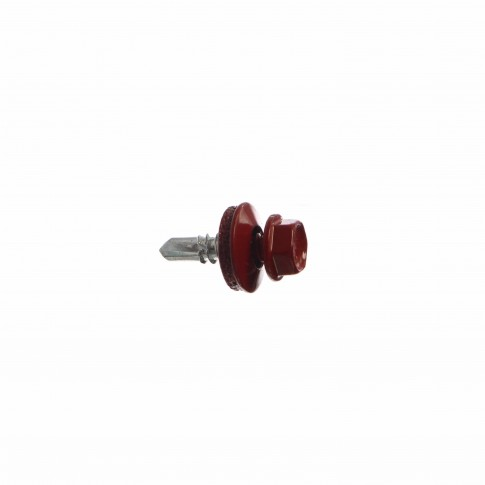 Surub pentru tigla metalica, autoforant, Bilka, rosu RAL 3011, 4.8 x 19 mm, 250 bucati