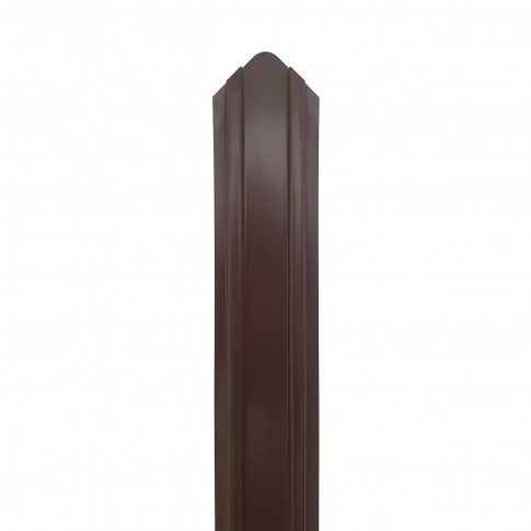Sipca metalica cutata pentru gard, maro (RAL 8017), 1500 x 100 x 0.45 mm