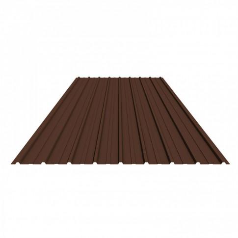 Tabla zincata cutata vopsita, maro (RAL 8017), H 10 0.25 x 910 x 1500 mm