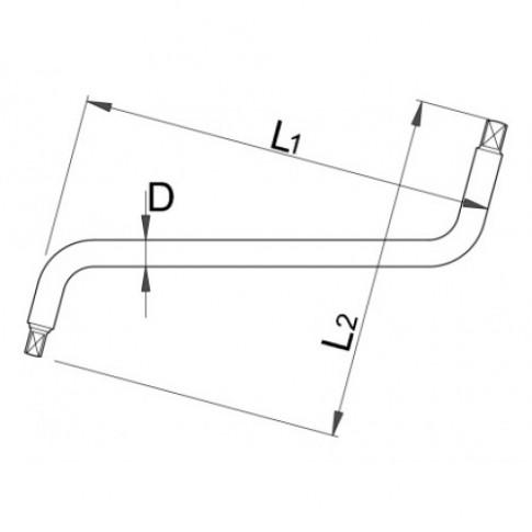 Cheie schimb ulei cutie de viteze, Unior 605112, 8 x 10 mm