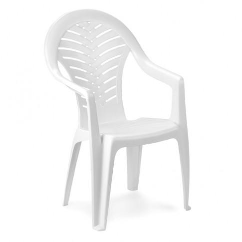 Scaun pentru gradina, Ocean, plastic, alb