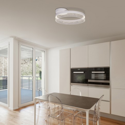 Plafoniera LED Smitty 68225-24, 24W, 1800 lm, lumina neutra, alba