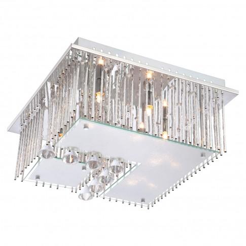 Plafoniera LED + G9 Fragilis 68563-5, 16 x 0.03W + 5 x 33W cu telecomanda
