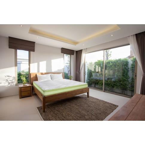 Saltea pat Bedora Aloe Vera Pocket Memory, ortopedica, 2 persoane, cu spuma poliuretanica + memory, cu arcuri invelite, 140 x 200 cm