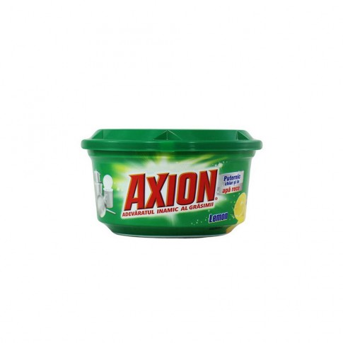 Detergent pasta pentru vase Axion, aroma lamaie, 225 g