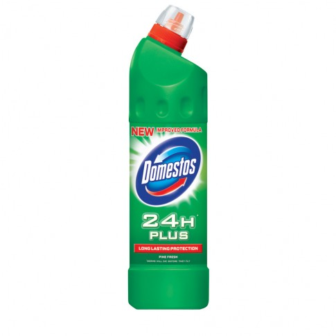 Dezinfectant pentru toaleta Domestos 24H Plus Pine Fresh 750 ml