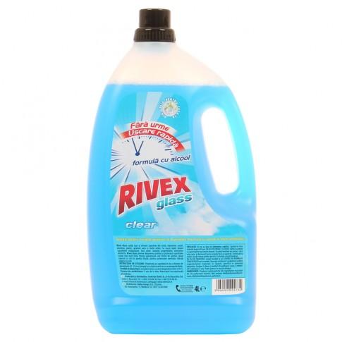 Solutie geamuri Rivex Glass Clear, formula cu alcool, 4 L