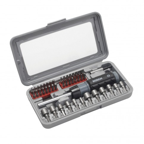 Set 46 accesorii pentru insurubare, Bosch, 2607019504