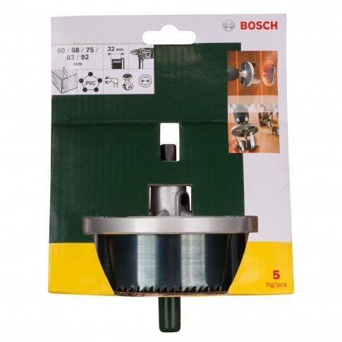 Set 5 carote, pentru lemn, Bosch 2607019451