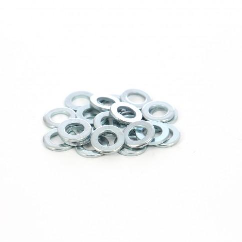 Saiba plata din otel zincat alb, DIN125A, M6 x 12 x 1.6 mm