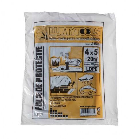Folie protectie mobilier, Lumytools LT 07664, 0.02 mm, 5 x 4 m