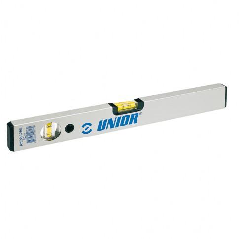 Nivela cu bula, Unior 1250, cu 2 indicatori, din aluminiu, 1000 mm