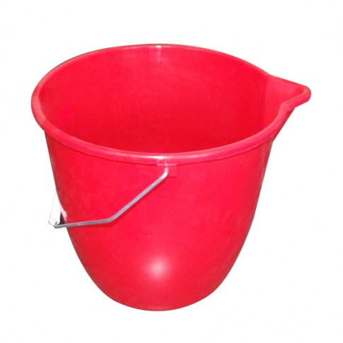 Galeata din polipropilena, rotunda, rosie, 10 L