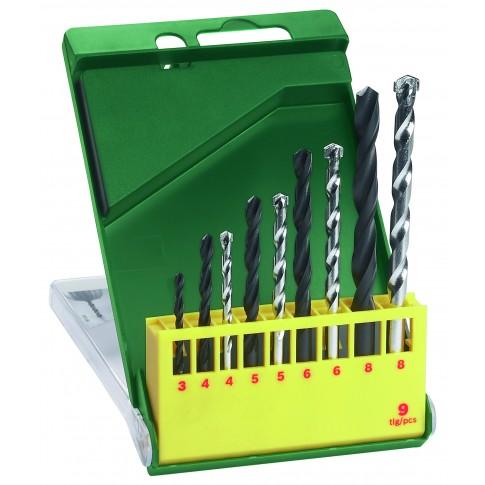 Set 9 burghie, pentru metal / piatra, Bosch 2607019443, 3 - 8 mm