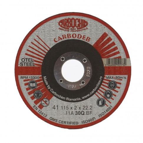 Disc debitare otel, Carbochim 11A30Q4B471TRS, 115 x 22.2 x 2 mm