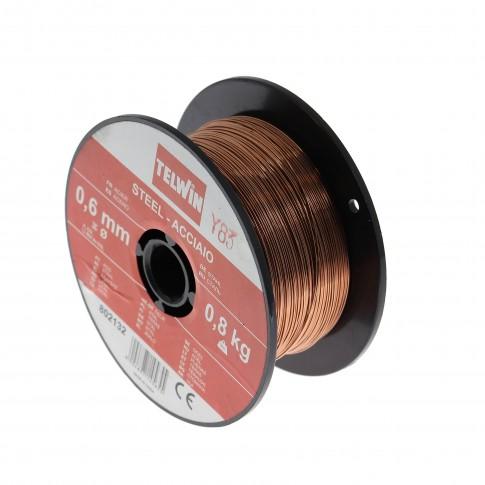 Sarma plina, pentru sudura otel cuprat, Telwin 802132, 0.6 mm, 0.8 kg