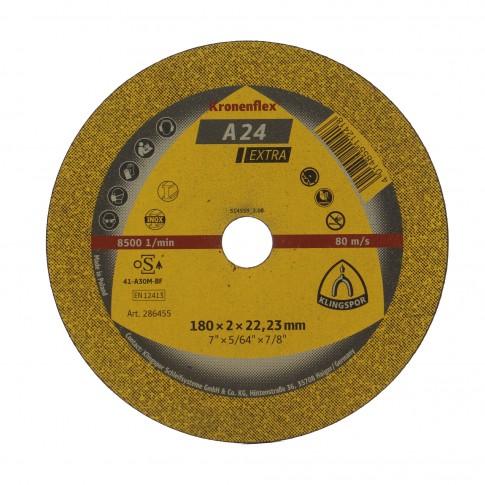 Disc debitare metale, Klingspor A 24 Extra, 180 x 22.23 x 2 mm