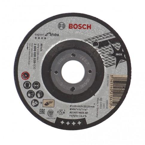 Disc polizare inox, Bosch Expert for Inox, 115 x 22.23 x 6 mm
