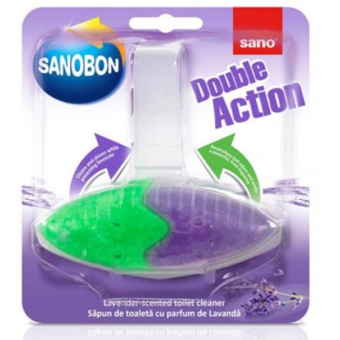 Odorizant wc vas toaleta Sano Bon double action 4in1, solid, 55g