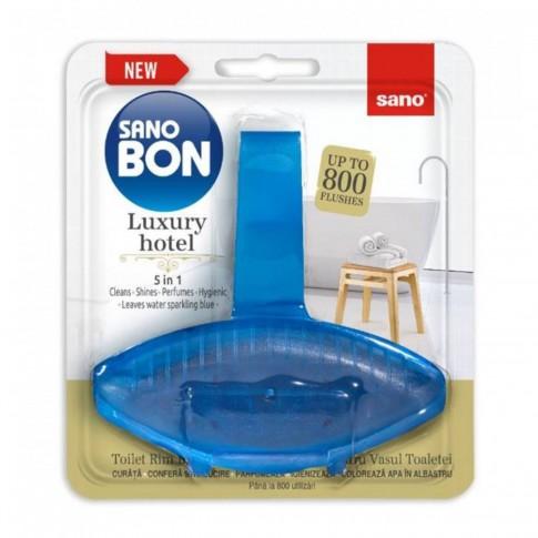 Odorizant wc baie Sano Bon Blue Luxury Hotel 5in1, solid, 55g