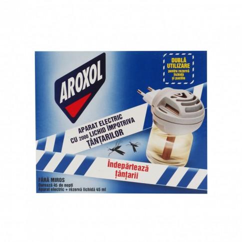 Aparat electric + rezerva lichida pentru tantari Aroxol 2000, 45 nopti, 45 ml