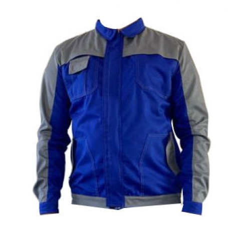 Jacheta de lucru Asimo, poliester si bumbac, albastra, cu buzunare, marimea 58