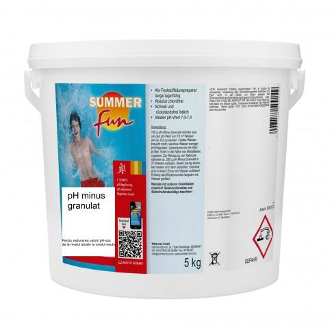 PH minus granulat Summer Fun, pentru apa piscina, 5 kg
