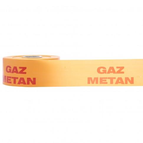 Banda avertizare gaz metan, 0.125 x 100 m