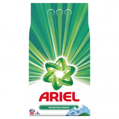 Detergent rufe automat, Ariel Mountain Spring, 6 kg