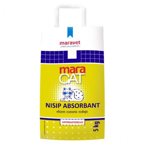 Nisip absorbant pentru pisici, Maracat, 5 kg