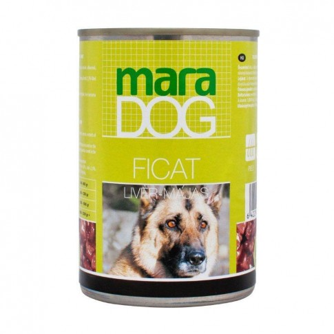 Hrana umeda pentru caini, Maradog, adult, cu ficat, 400g