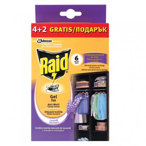 Raid antimolii gel lavanda Multi pack