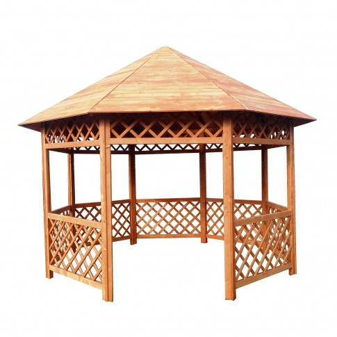 Pavilion gradina Daf octogonal din lemn 3.92 x 3.62 m