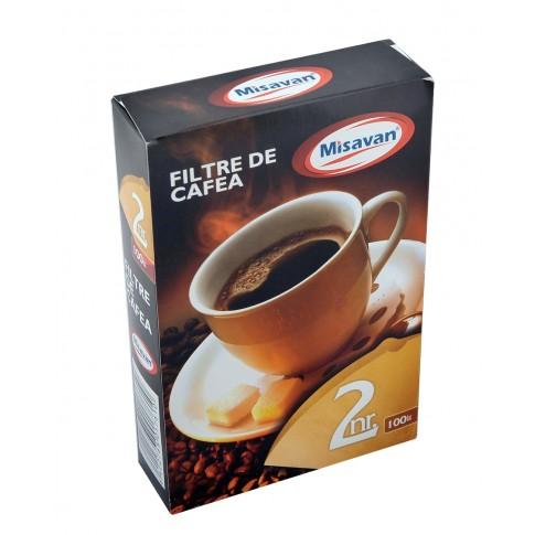 Hartie filtru cafea numarul 2, 100 bucati pe cutie