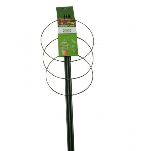 Suport pentru flori Versay FS-3-45, otel plasticat, verde, 22 x 60 cm