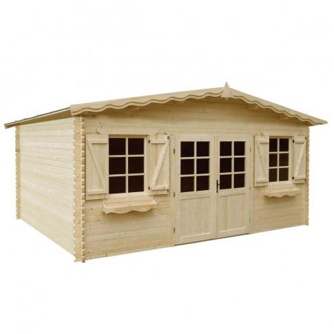 Casuta pentru gradina, cu fereastra, Meridian, lemn, 494 x 395 cm