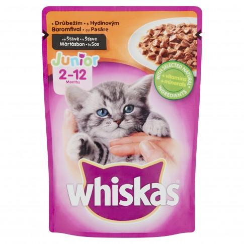 Hrana umeda pentru pisici Whiskas, junior, carne de pasare, 100g