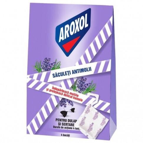 Saculeti antimolii Aroxol, lavanda, 4 buc / pachet