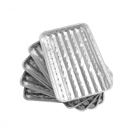 Tava aluminiu pentru gratar, Landmann, 34 x 23 cm, set 5 buc