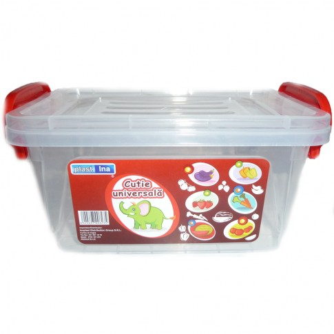 Cutie universala pentru alimente, select, plastic, dreptunghiulara, transparenta, 20 L
