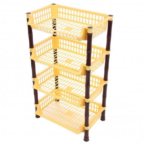 Raft plastic depozitare, 4 nivele, 41 x 29 x 71 cm