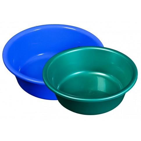 Lighean rotund, plastic, diverse culori, 12 L, 450 x 140 mm