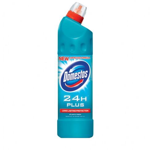 Dezinfectant pentru toaleta Domestos 24H Plus Atlantic Fresh 750 ml