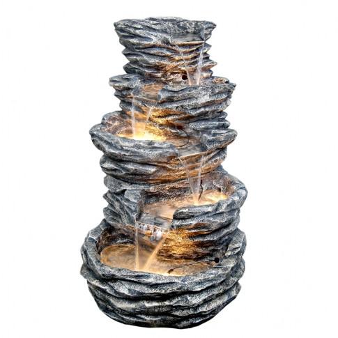 Fantana arteziana Grunman MZ08296GA, decoratiune gradina, cu pompa recirculare apa, 65 x 65 x 99 cm