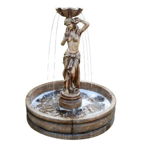Fantana arteziana Grunman MZ10537GB, decoratiune gradina, cu pompa recirculare apa, 119 x 99 x 99 cm